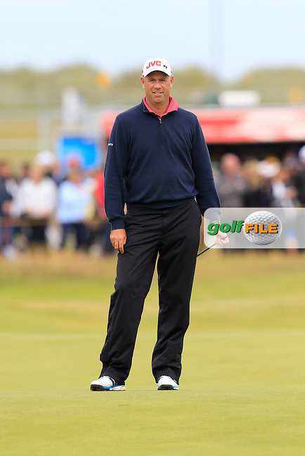 Stewart CINK (USA) on the 15th green during Sunday's Round 3 of the 144th Open Championship, St Andrews Old Course, St Andrews, Fife, Scotland. 19/07/2015.<br /> Picture Eoin Clarke, www.golffile.ie