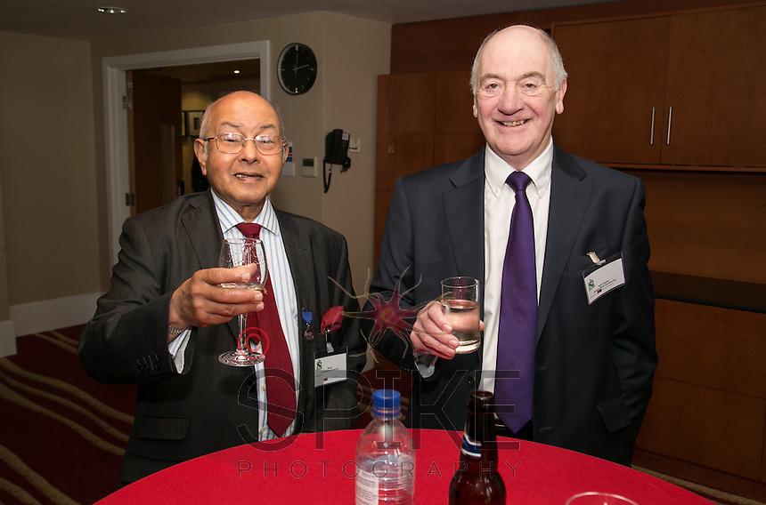 Cheera! Bill Sen, AFH Financial Group (left) and Steve Rynton, Morgan Blake Solutions