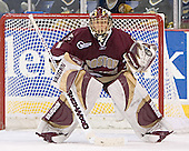 Cory Schneider - The University of Massachusetts-Lowell River Hawks defeated the Boston College Eagles 6-3 on Saturday, February 25, 2006, at the Paul E. Tsongas Arena in Lowell, MA.