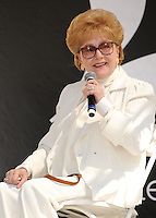 """28 December 2016 - Debbie Reynolds, the Oscar-nominated """"Singin' in the Rain,""""  singer-actress who was the mother of late actress Carrie Fisher, has died. She was 84. """"She wanted to be with Carrie,"""" her son Todd Fisher told Variety. She was taken to the hospital from Todd Fisher's Beverly Hills house Wednesday after a suspected stroke, the day after her daughter Carrie Fisher died. File Photo: 20 April 2013 - Hollywood, California - Debbie Reynolds. 18th Annual Los Angeles Times Festival of Books held at USC. Photo Credit: Byron Purvis/AdMedia"""