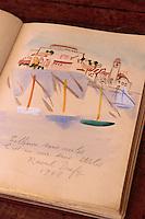 """Europe/France/Languedoc-Roussillon/66/Pyrénées-Orientales/Collioure: détails du livre d'or de l'hôtel restaurant """"Les Templiers"""" - Raoul Dufy de passage en 1948"""
