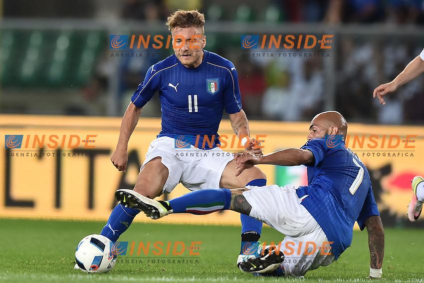 Ciro Immobile, Simone Zaza Italia <br /> Verona 06-06-2016 Stadio Bentegodi Football Friendly Match Italia - Finlandia / Italy - Finland . Foto Andrea Staccioli / Insidefoto