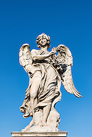 Angel with the Crown of Thorns, Ponte Sant'Angelo bridge, Rome, Italy