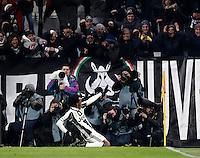Calcio, Serie A: Torino, Juventus Stadium, 5 febbraio 2017.<br /> Juventus' Juan Cuadrado celebrates after scoring during the Italian Serie A football match between Juventus and Inter Milan at Turin's Juventus Stadium, on February 5, 2017.<br /> UPDATE IMAGES PRESS/Isabella Bonotto