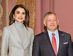 21.03.2018; The Hague, Netherlands: QUEEN RANIA, QUEEN MAXIMA KING ABDULLAH AND KING WILLEM-ALEXANDER <br /> call on the Prime Minister Mark Rutte.<br /> King Abdullah II and Queen Rania Al Abdullah of Jordan are on the second day of their official visit to the Netherlands<br /> Mandatory Photo Credit: NEWSPIX INTERNATIONAL<br /> <br /> IMMEDIATE CONFIRMATION OF USAGE REQUIRED:<br /> Newspix International, 31 Chinnery Hill, Bishop's Stortford, ENGLAND CM23 3PS<br /> Tel:+441279 324672  ; Fax: +441279656877<br /> Mobile:  0777568 1153<br /> e-mail: info@newspixinternational.co.uk<br /> &ldquo;All Fees Payable To Newspix International&rdquo;