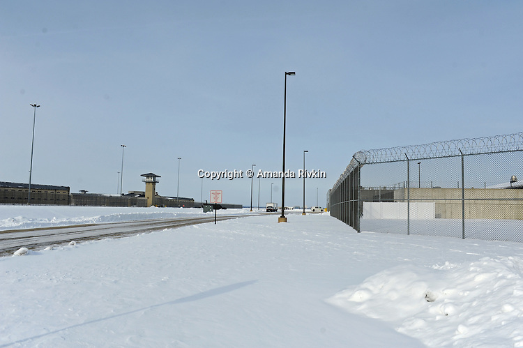 The main entrance to the Thomson Correctional Center is seen in tiny Thomson, Illinois on January 4, 2010. Thomson Correctional Center was an empty prison facility outside the town of 600 that is being revamped and rehabilitated in preparation for the possible incoming influx of prisoners from the U.S. detention facility for prisoners of the War on Terror currently held in Guantanamo Bay, Cuba.