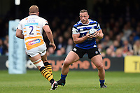 Max Lahiff of Bath Rugby in possession. Gallagher Premiership match, between Bath Rugby and Wasps on May 5, 2019 at the Recreation Ground in Bath, England. Photo by: Patrick Khachfe / Onside Images