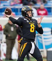 Hawgs Illustrated/BEN GOFF <br /> Connor Bazelak, Missouri quarterback, throws the ball in the second quarter vs Arkansas Saturday, Nov. 29, 2019, at War Memorial Stadium in Little Rock.