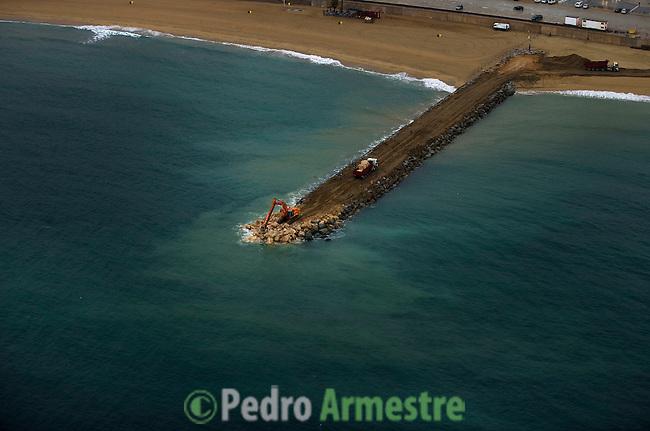 OBRAS DIQUES-BARCELONA-CATALUÑA. 2008-04-17. (C) Pedro ARMESTRE