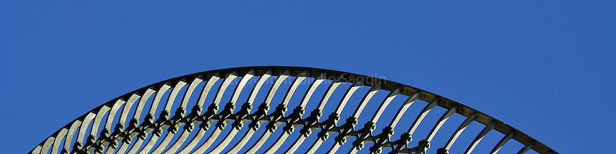 The handrail at the top of the Barrenjoey Lighthouse at Palm Beach, on Sydney's northern beaches.