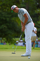 Rickie Fowler (USA) barely misses his birdie putt on 3 during round 2 of the 2019 Tour Championship, East Lake Golf Course, Atlanta, Georgia, USA. 8/23/2019.<br /> Picture Ken Murray / Golffile.ie<br /> <br /> All photo usage must carry mandatory copyright credit (© Golffile | Ken Murray)