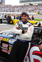 May 1, 2009; Richmond, VA, USA; NASCAR Nationwide Series driver Marc Davis prior to the Lipton Tea 250 at the Richmond International Raceway. Mandatory Credit: Mark J. Rebilas-