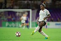 Orlando, FL - Saturday August 12, 2017: Mandy Freeman during a regular season National Women's Soccer League (NWSL) match between the Orlando Pride and Sky Blue FC at Orlando City Stadium.