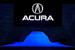 2007 Acura Advanced Sports Car concept car under wraps at the North American International Auto Show, 2007