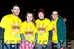 Steven McSweeney (Ballybunion),Lesley and Emma Harty (Causeway), Irene Horgan (Kilmoyley) pictured at the Darkness Into Light walk, Tralee, on Saturday last.