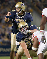 21 October 2006: Pitt quarterback Tyler Palko and center Joe Villani point at defenders..The Rutgers Scarlet Knights defeated the Pitt Panthers 20-10 on October 21, 2006 at Heinz Field, Pittsburgh, Pennsylvania.