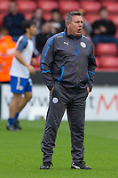 Leicester City manager Craig Shakespeare during the Carabao Cup match between Sheffield United and Leicester City at Bramall Lane, Sheffield, England on 22 August 2017. Photo by James Williamson / PRiME Media Images.