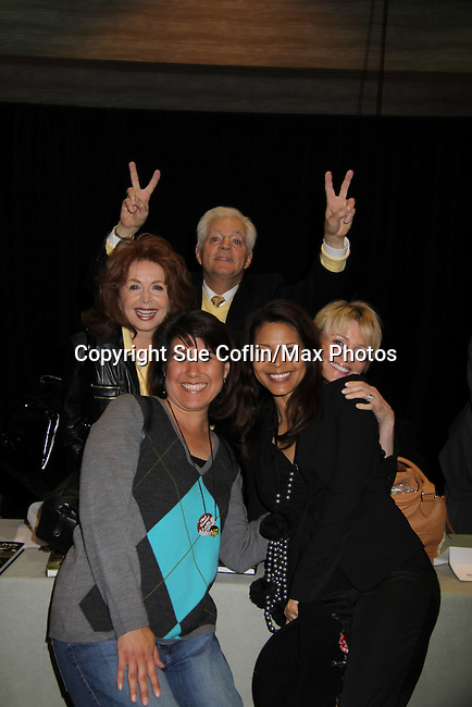 Fan poses with Days Bill Hayes, Suzanne Rogers, Judi Evans & Renee Jones at Romantic Times Booklovers Annual Convention 2011 - The Book Industry Event of the Year - April 9, 2011 at the Westin Bonaventure, Los Angeles, California for readers, authors, booksellers, publishers, editors, agents and tomorrow's novelists - the aspiring writers. (Photo by Sue Coflin/Max Photos)