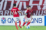 Guangzhou Defender Zhang Linpeng (R) in action during the AFC Champions League 2017 Round of 16 match between Guangzhou Evergrande FC (CHN) vs Kashima Antlers (JPN) at the Tianhe Stadium on 23 May 2017 in Guangzhou, China. (Photo by Power Sport Images/Getty Images)