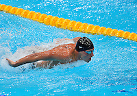 July 28, 2012: Ryan Lochte competes in Men's 400m Individual Medley at the Aquatics Center on day one of 2012 Olympic Games in London, United Kingdom.