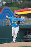 Myrtle Beach Pelicans pitcher Trevor Clifton (29) during a game against the Salem Red Sox at Ticketreturn.com Field at Pelicans Ballpark on April 10, 2016 in Myrtle Beach, South Carolina. Salem defeated Myrtle Beach 4-3. (Robert Gurganus/Four Seam Images)