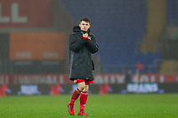 Ben Woodburn of Wales claps the fans at full time of the International Friendly match between Wales and Panama at the Cardiff City Stadium, Cardiff, Wales on 14 November 2017. Photo by Mark Hawkins.