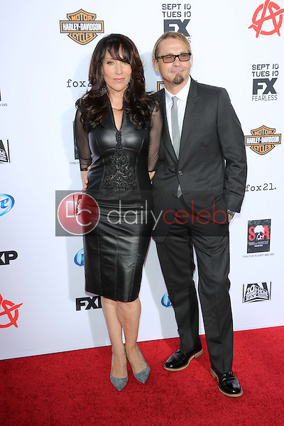 "Katey Sagal, Kurt Sutter<br /> at the ""Sons of Anarchy"" Season Six Premiere Screening, Dolby Theatre, Hollywood, CA 09-07-13<br /> David Edwards/Dailyceleb.com 818-249-4998"