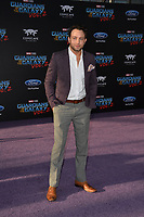 Jonathan Sadowski at the world premiere for &quot;Guardians of the Galaxy Vol. 2&quot; at the Dolby Theatre, Hollywood. <br /> Los Angeles, USA 19 April  2017<br /> Picture: Paul Smith/Featureflash/SilverHub 0208 004 5359 sales@silverhubmedia.com