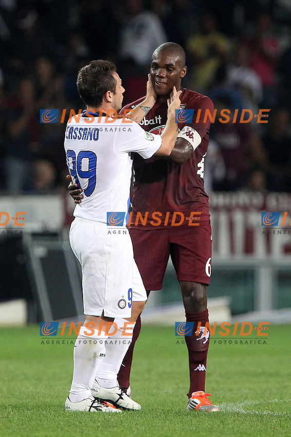 "Antonio Cassano Inter Angelo Ogbonna Torino.Torino 16/09/2012 Stadio ""Olimpico"".Football Calcio Serie A 2012/13.Torino v Inter.Foto Insidefoto Paolo Nucci."