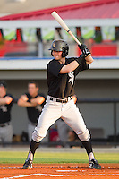 Jordan Keegan #28 of the Bristol White Sox at bat against the Burlington Royals at Burlington Athletic Stadium August 13, 2010, in Burlington, North Carolina.  Photo by Brian Westerholt / Four Seam Images
