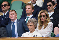 Katherine Jenkins (right) in the Royal Box along with Tim Peake, Jude Law and Nico Rosberg<br /> <br /> Photographer Ashley Western/CameraSport<br /> <br /> Wimbledon Lawn Tennis Championships - Day 11 - Friday 14th July 2017 -  All England Lawn Tennis and Croquet Club - Wimbledon - London - England<br /> <br /> World Copyright &copy; 2017 CameraSport. All rights reserved. 43 Linden Ave. Countesthorpe. Leicester. England. LE8 5PG - Tel: +44 (0) 116 277 4147 - admin@camerasport.com - www.camerasport.com