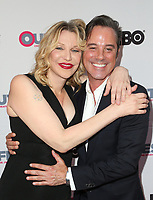 "LOS ANGELES, CA- Courtney Love, Bryan Rabin, At 2017 Outfest Los Angeles LGBT Film Festival - Closing Night Gala Screening Of ""Freak Show"" at The Theatre at Ace Hotel, California on July 16, 2017. Credit: Faye Sadou/MediaPunch"