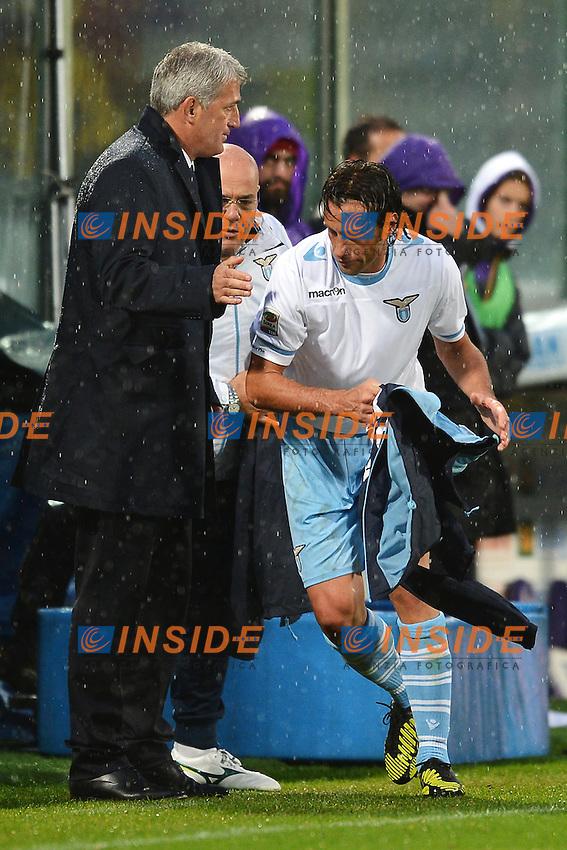Stefano Mauri e Vladimir Petkovic Lazio.Firenze 29/102012 Stadio Artemio Franchi.Football Calcio 2012/2013 Serie A.Fiorentina Vs Lazio.Foto Insidefoto Andrea Staccioli