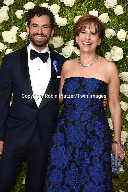 Brandon Uranowitz and mom attends the 71st Annual  Tony Awards on June 11, 2017 at Radio City Music Hall in New York, New York, USA.<br /> <br /> photo by Robin Platzer/Twin Images<br />  <br /> phone number 212-935-0770