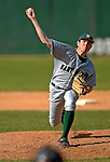 24 April 2007: Dartmouth College Big Green pitcher Miller Aldrich, a Freshman from College Station, TX, on the mound against the University of Vermont Catamounts at Historic Centennial Field, in Burlington, Vermont...Mandatory Photo Credit: Ed Wolfstein Photo
