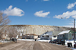 Mining, USA, Ruth, Nevada, Open pit copper mine and mine tailings encroach on town, Robinson Nevada Mining Company owned by KGHM International which is owned by foreign owned KGHM Polska Mied? S.A,