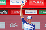 Enric Mas Nicolau (ESP) Quick-Step Floors leads the young rider award at the end of Stage 7 of the La Vuelta 2018, running 185.7km from Puerto Lumbreras to Pozo Alc&oacute;n, Spain. 31st August 2018.<br /> Picture: Unipublic/Photogomezsport | Cyclefile<br /> <br /> <br /> All photos usage must carry mandatory copyright credit (&copy; Cyclefile | Unipublic/Photogomezsport)