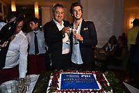 Paolo Barelli, Gregorio Paltrinieri <br /> Roma 28-09-2015 Via Veneto. Meravigliosi Gala' dei Campioni organizzato dalla FIN, Federazione Italiana Nuoto per festeggiare i successi dei Mondiali di Kazan 2015 . Party of the swimming italian federation. Foto Andrea Staccioli / Insidefoto
