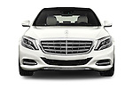 Car photography straight front view of a 2017 Mercedes Benz S-Class Maybach 4 Door Sedan Front View