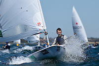 Laser/ Jeremy O'CONNELL<br /> ISAF Sailing World Cup Final - Melbourne<br /> St Kilda sailing precinct, Victoria<br /> Port Phillip Bay Wednesday 7 Dec 2016<br /> &copy; Sport the library / Jeff Crow