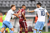 Ciro Immobile of SS Lazio celebrates with Luis Alberto after scoring the goal of 1-1 during the Serie A football match between Torino FC and SS Lazio at stadio Olimpico in Turin ( Italy ), June 30th, 2020. Play resumes behind closed doors following the outbreak of the coronavirus disease. <br /> Photo Image Sport / Insidefoto