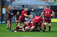 Alby Mathewson of Munster in action during the Guinness Pro14 Round 14 match between the Dragons and Munster Rugby at Rodney Parade in Newport, Wales, UK.  Saturday 26 January  2019
