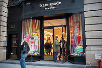 A Kate Spade store on Fifth Avenue in the Flatiron neighborhood of New York on Saturday, November 19, 2011. (© Richard B. Levine)