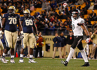 PITTSBURGH, PA - NOVEMBER 05: Chris Williams #20 of the Cincinnati Bearcats celebrates following a defensive stop on fourth down against the Pittsburgh Panthers on November 5, 2011 at Heinz Field in Pittsburgh, Pennsylvania.  (Photo by Jared Wickerham/Getty Images)