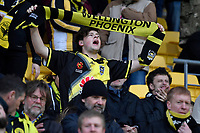 Phoenix Fans during the A-League - Wellington Phoenix v Western Sydney Wanderers at Westpac Stadium, Wellington, New Zealand on Saturday 3 November  2018. <br /> Photo by Masanori Udagawa. <br /> www.photowellington.photoshelter.com