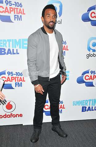 Craig David at the Capital FM Summertime Ball in aid of the Help a London Child charity, Wembley Stadium, Wembley, London, England, UK, on Saturday 11 June 2016.<br /> CAP/CAN<br /> &copy;CAN/Capital Pictures /MediaPunch ***NORTH AND SOUTH AMERIcAS ONLY***