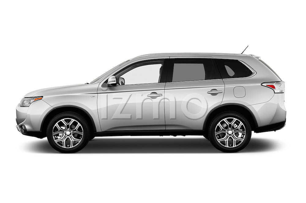 Car Driver side profile view of a2015 Mitsubishi Outlander GT 4WD 5 Door SUV Side View