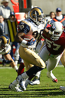 Marshall Faulk In a NFL  game played at Sun Devil Stadium between the Arizona Cardinals and the St Louis RamsI