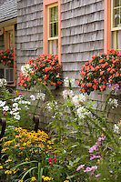Campground cottages, Oak Bluffs, Marthas Vineyard, MA