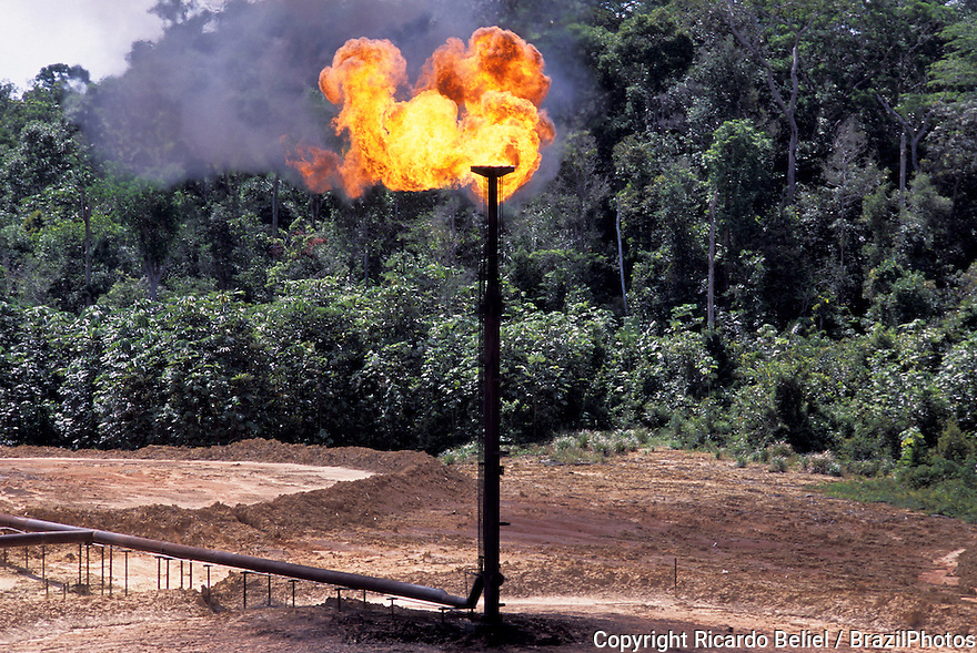 Urucu, onshore natural gas reserve in Brazil explored by Petrobras in Amazon rainforest.